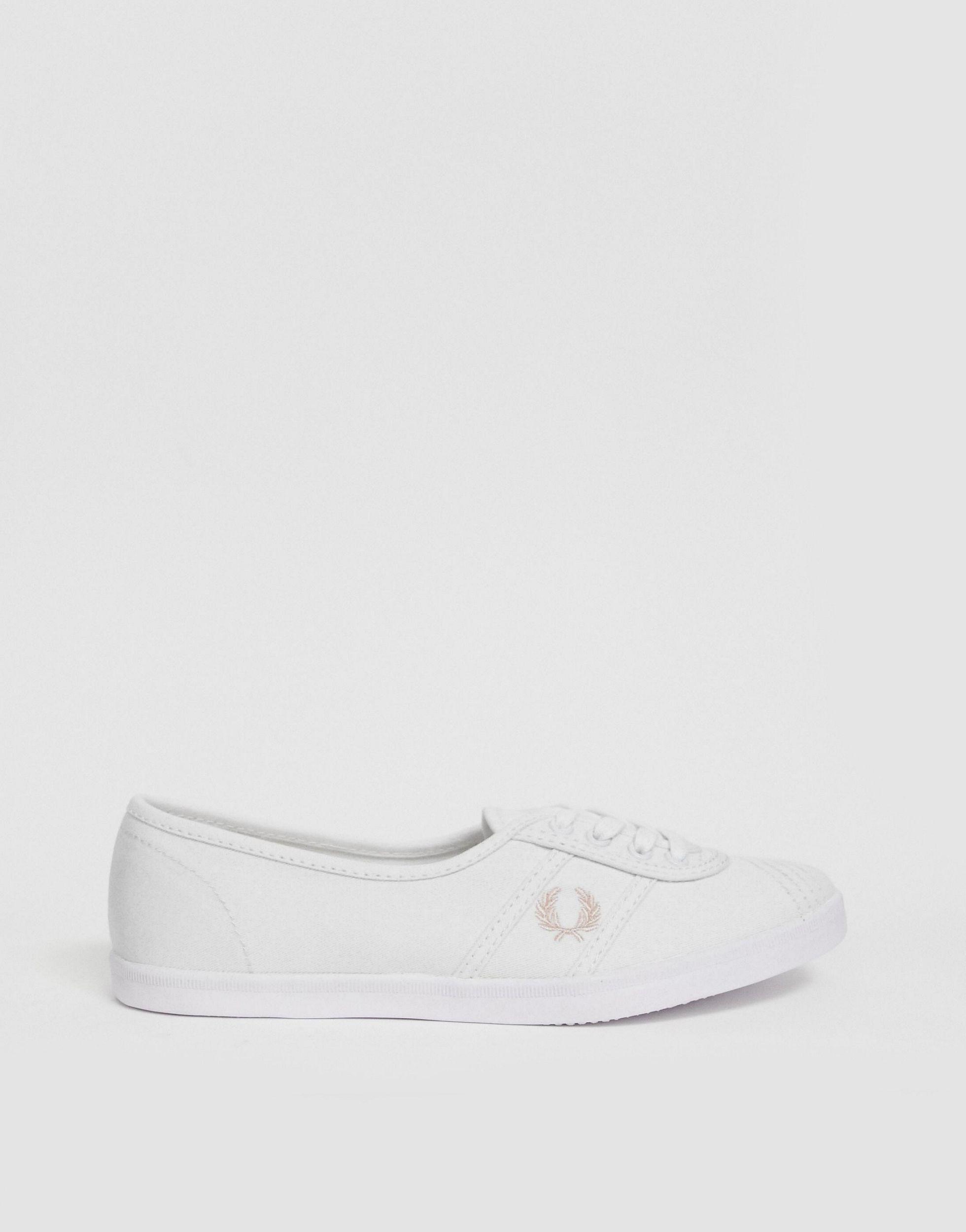 Zapatillas Fred Perry de Lona de color Blanco
