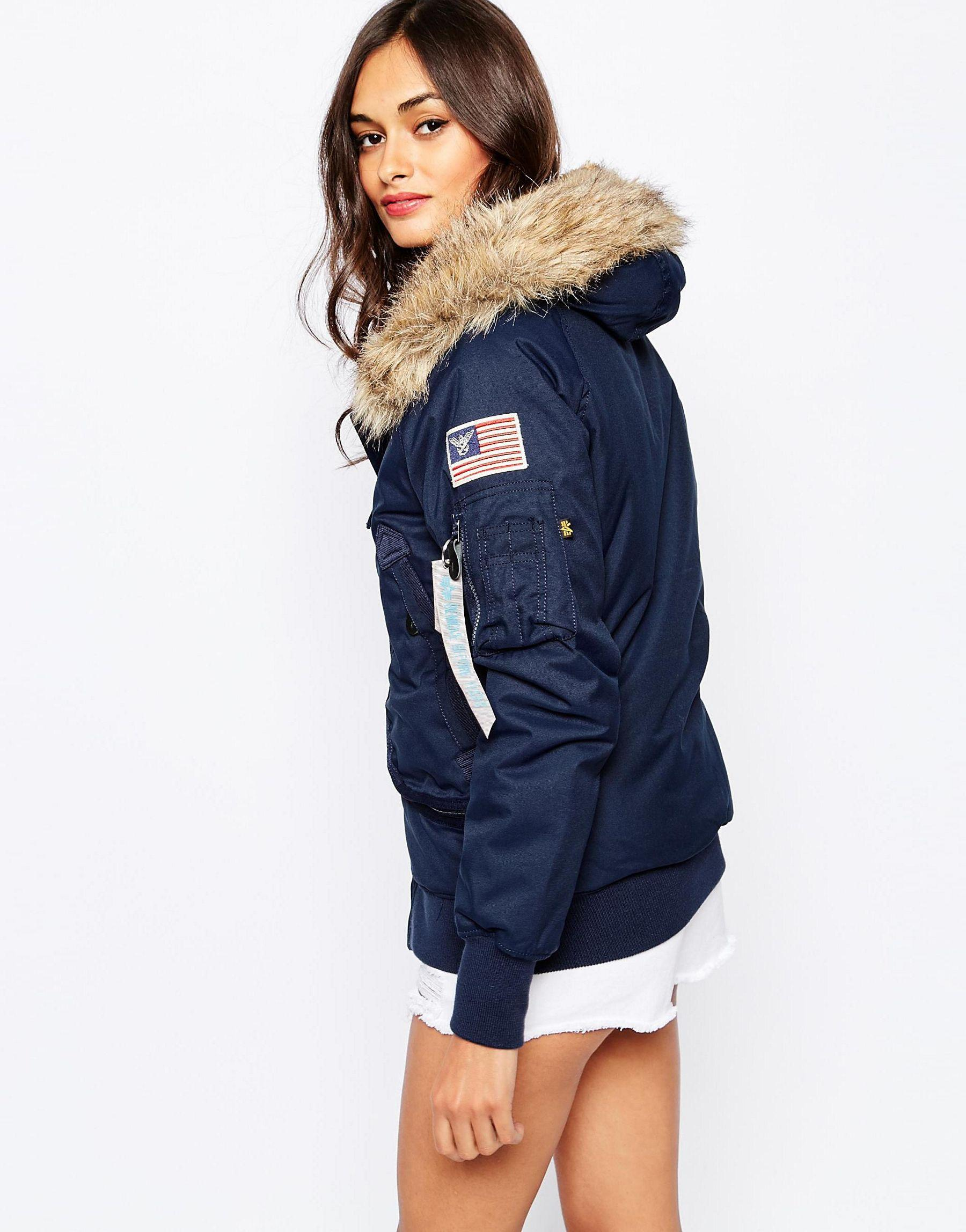 Bomber Fur Faux Hood Polar Jacket With Hooded jqUGLVMpSz