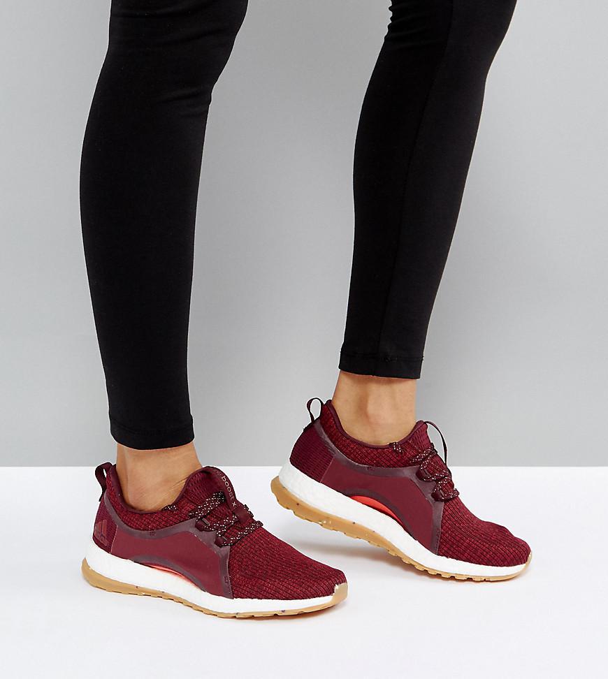 69f21a506e657 ... low price adidas training pureboost x trainers in burgundy lyst f259f  36d3b ...