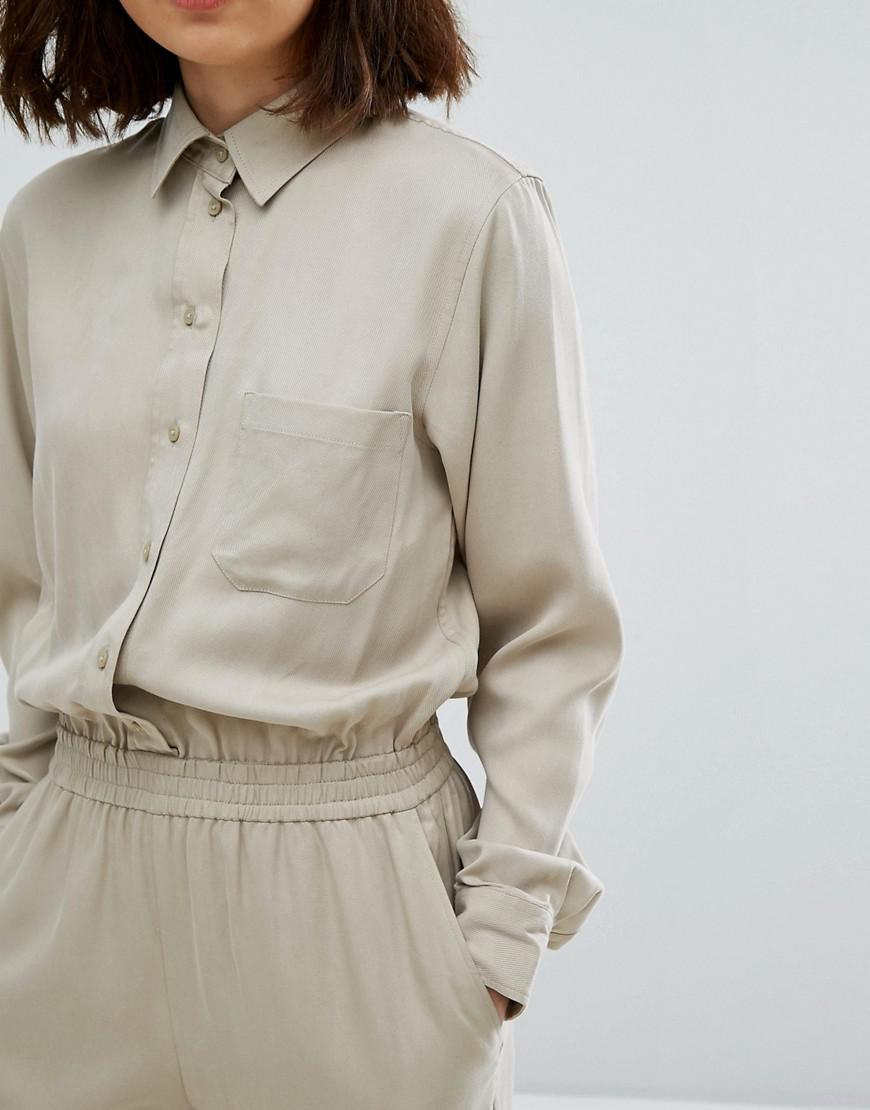 24cc6b9a102 Weekday Utility Jumpsuit in Natural - Lyst
