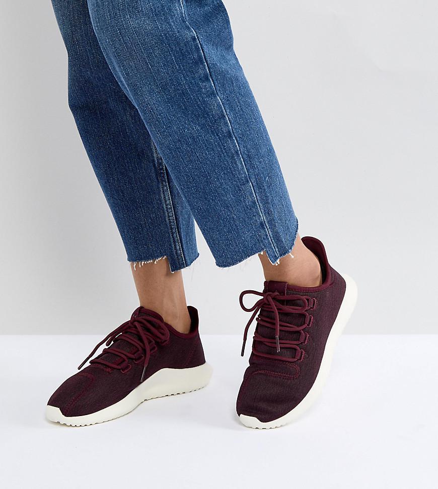 quality design 6e7a1 96f6d Originals Adidas Shadow Tubular Entrenadores Borgoña En AOqPFdwOr