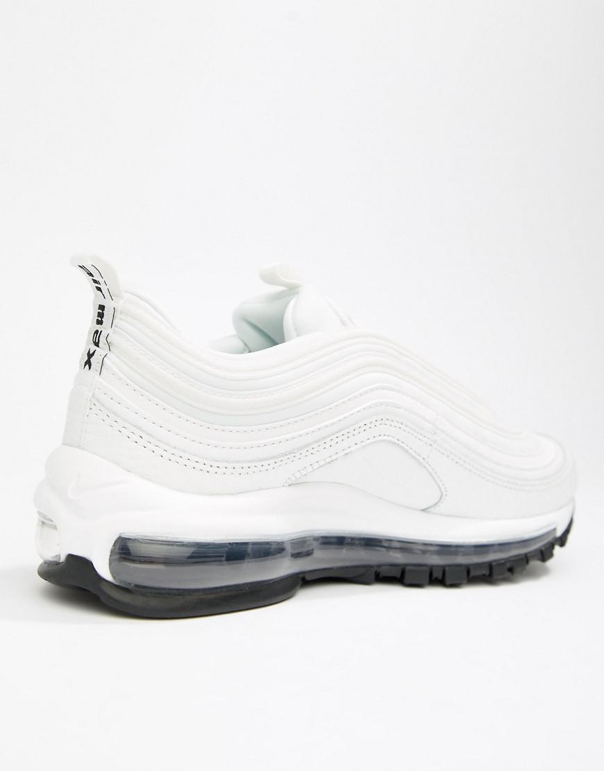 8a83c64c80d Nike White And Black Leather Air Max 97 Sneakers in White - Lyst