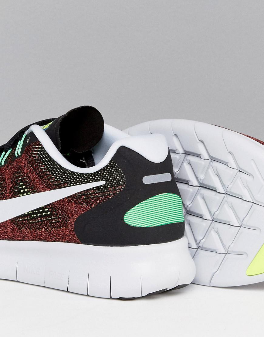 Nike Free Run 2 Trainers In Red 880839-005 for Men