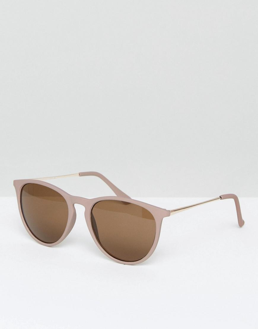 bc33551309 New Look Round Sunglasses In Nude in Brown for Men - Lyst