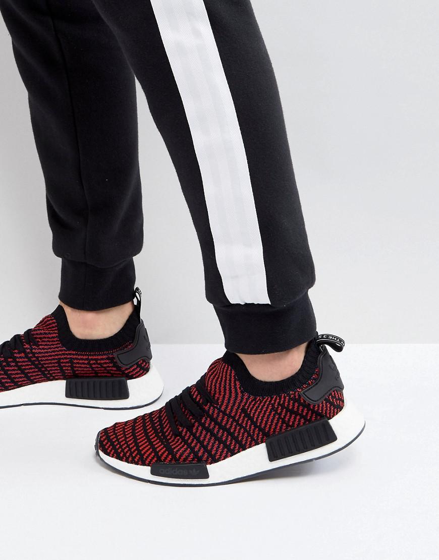 3c8ccfd06ceb1b adidas Originals Nmd R1 Stlt Primeknit Trainers In Black Cq2385 in ...