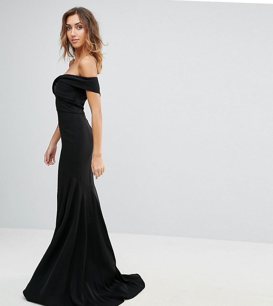 ac61f135709b Lyst - Jarlo Off Shoulder Overlay Maxi Dress in Black