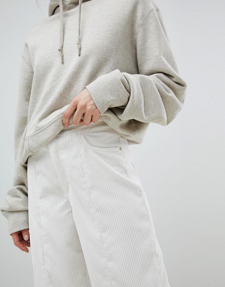 Pantalon Large En Velours Côtelé