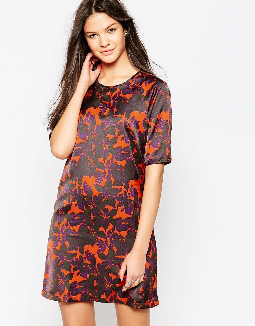 Pepe Jeans Floral Print Norah Dress in Gray
