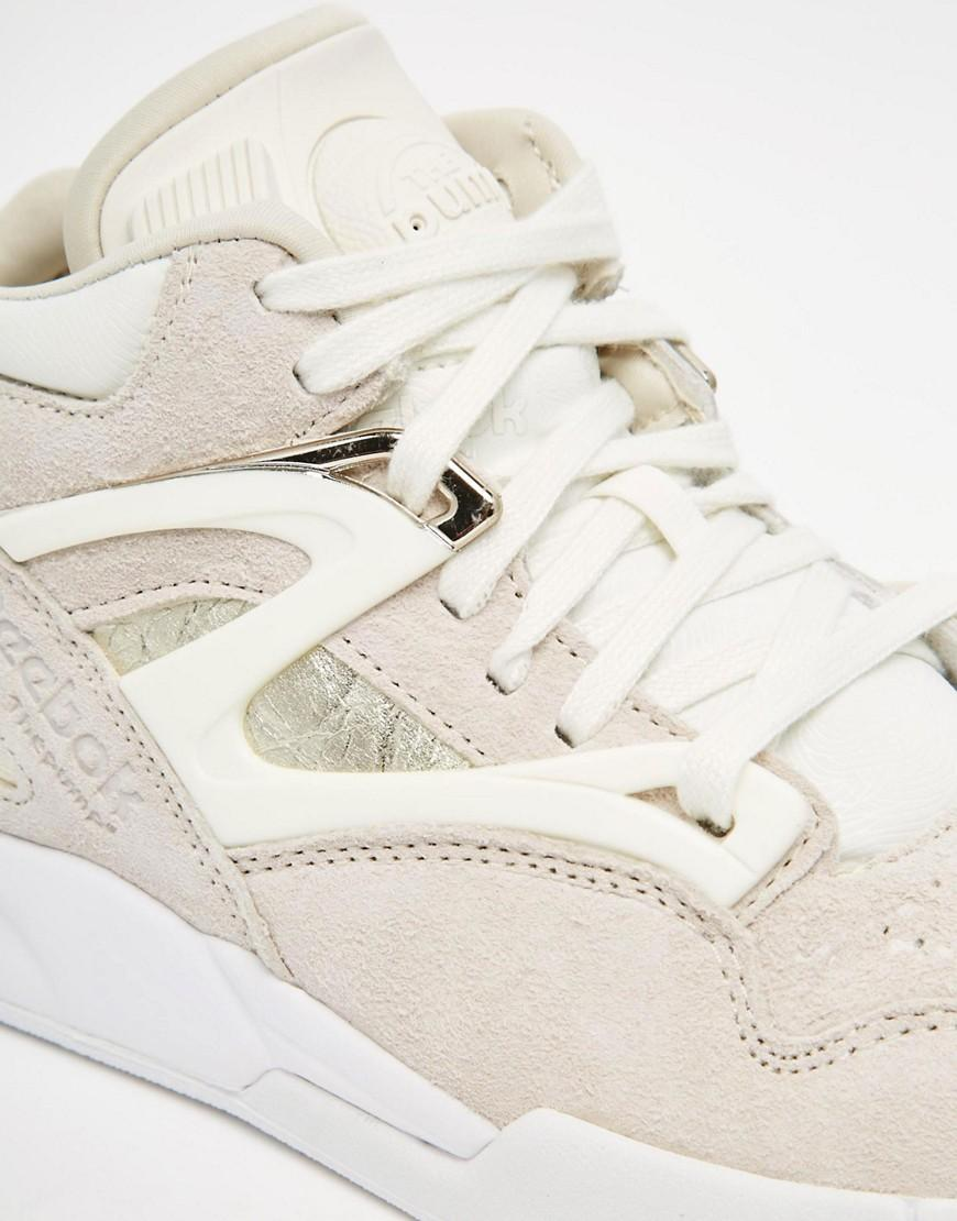 Reebok Suede Pump Omni Lite Premium Trainers in Beige (Natural)