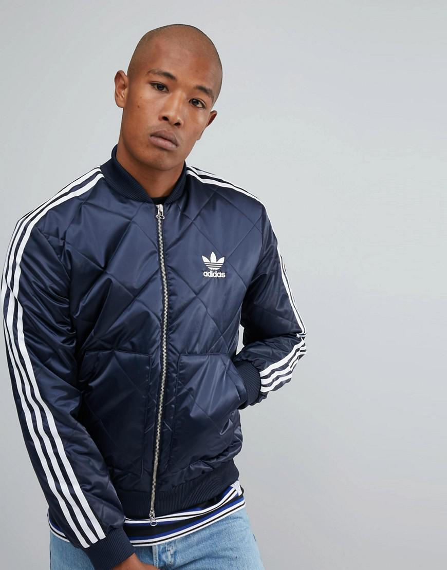 online store half price another chance Superstar Quilted Jacket In Navy Br7155