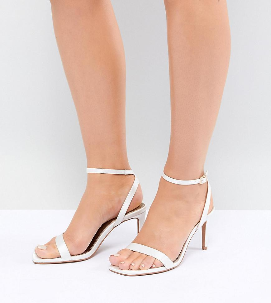 0bd6a6e7559 ASOS Half Time Wide Fit Bridal Barely There Heeled Sandals in ...