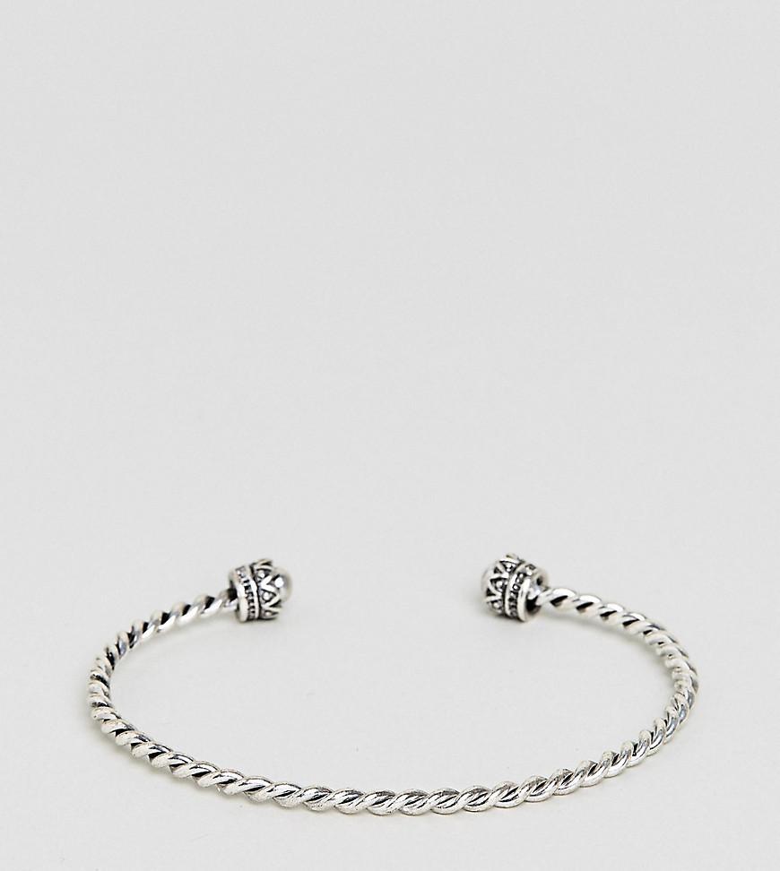 ASOS DESIGN Curve Exclusive Burnished Bead Stretch Bracelet - Silver Asos Curve pA7m5pWjM