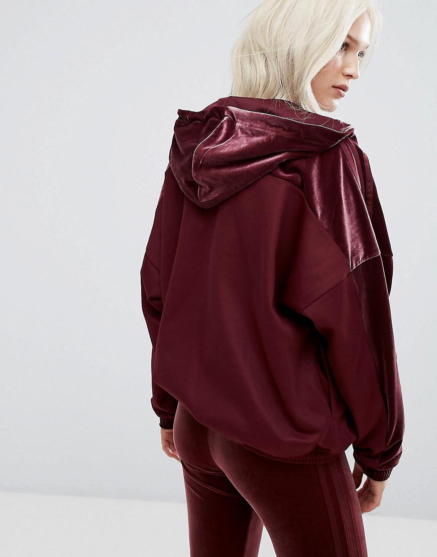 Lyst Adidas Originals Originals Velvet Vibes Hooded