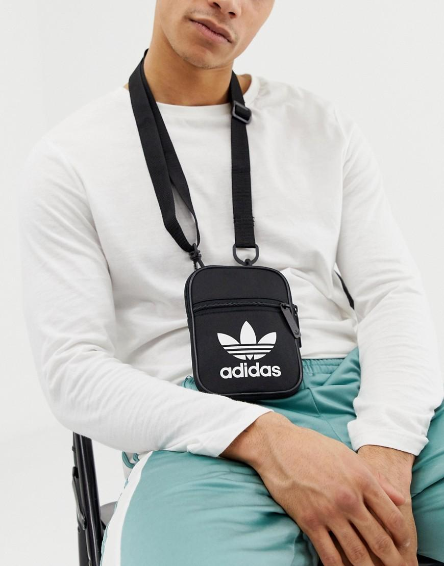 adidas Originals Flight Bag In Black in Black for Men - Lyst 1ee5828303351