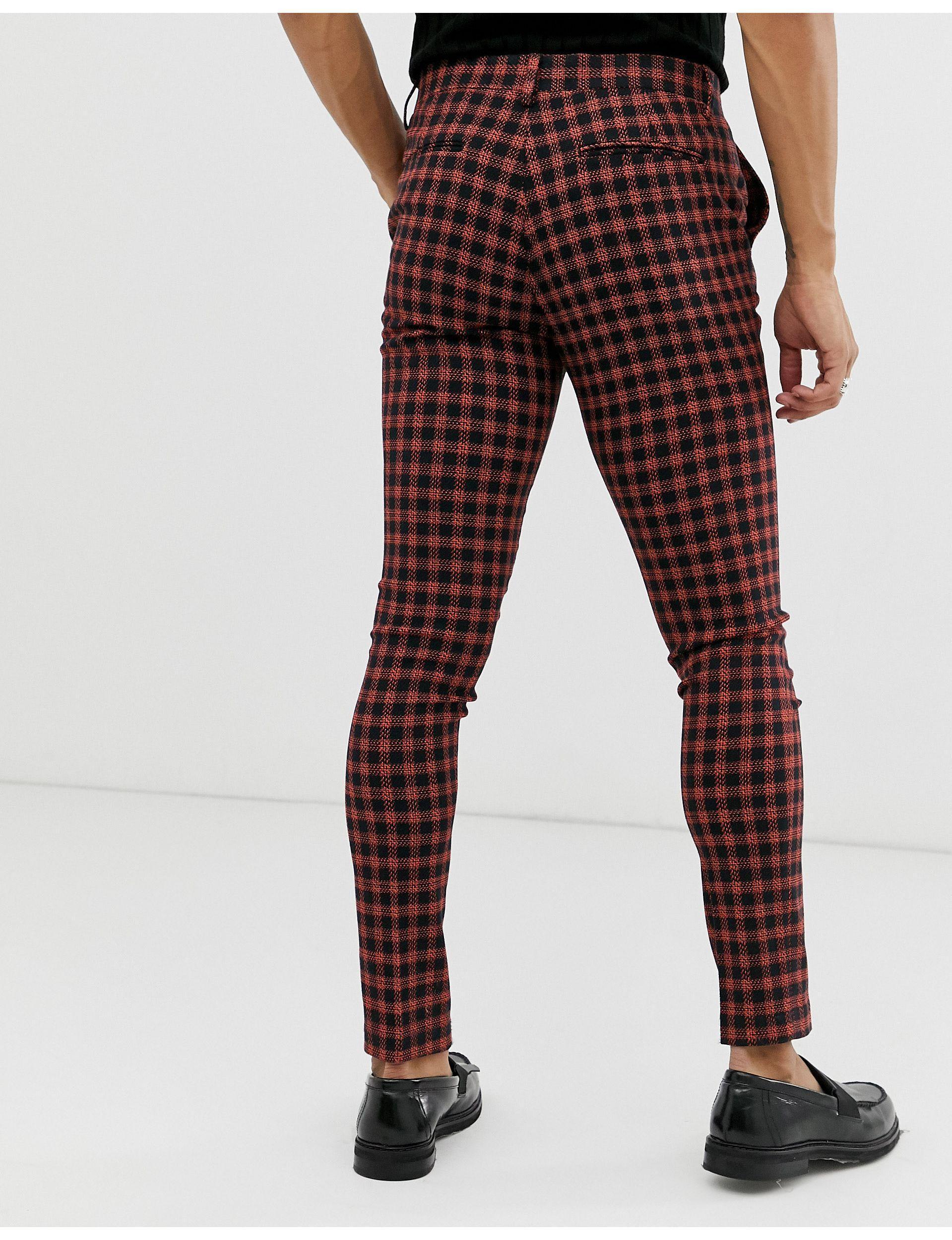 ASOS Synthetisch Superskinny Pantalon voor heren