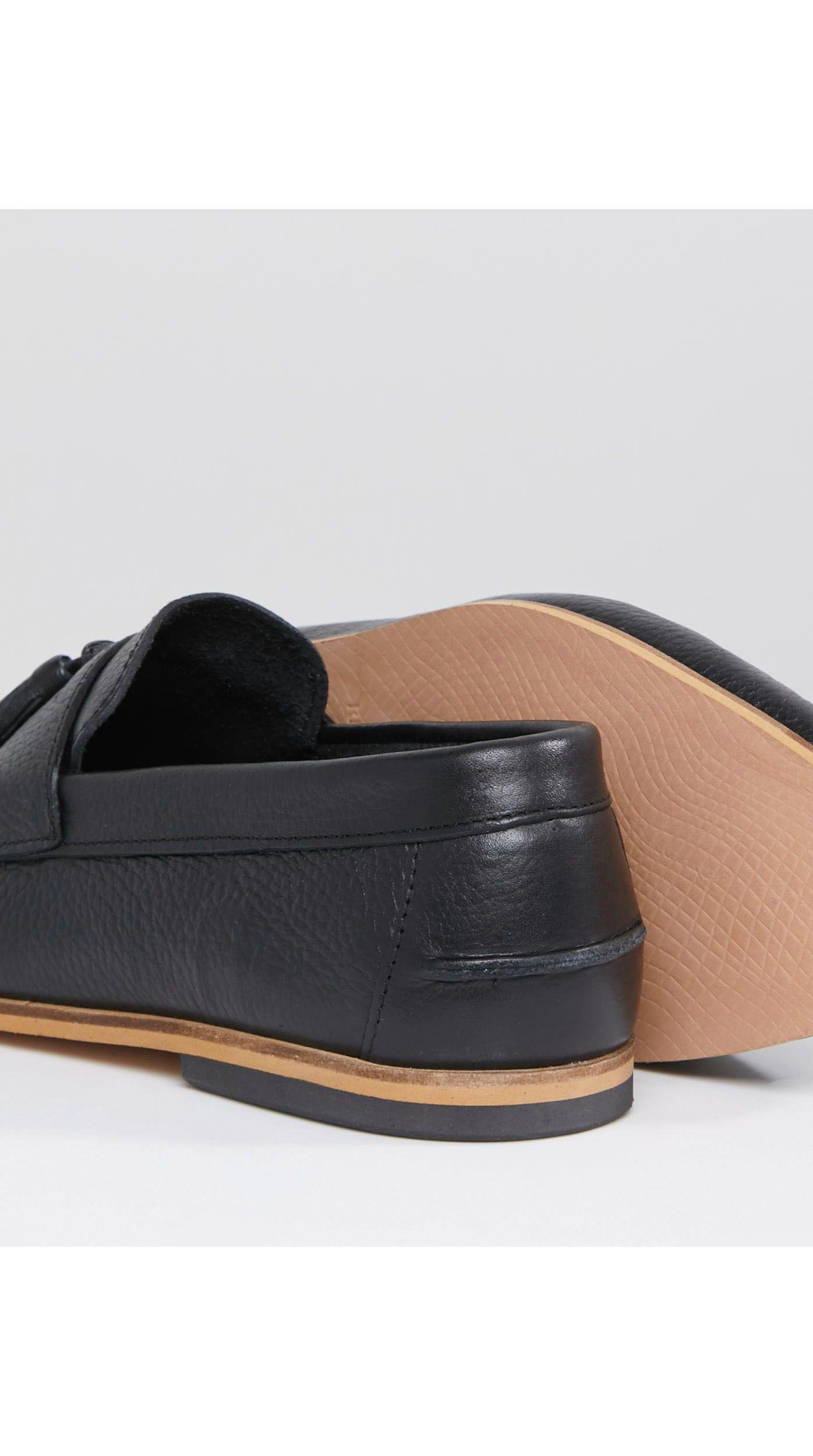 River Island Leer Leren Loafers Met Kwastjes in het Zwart voor heren