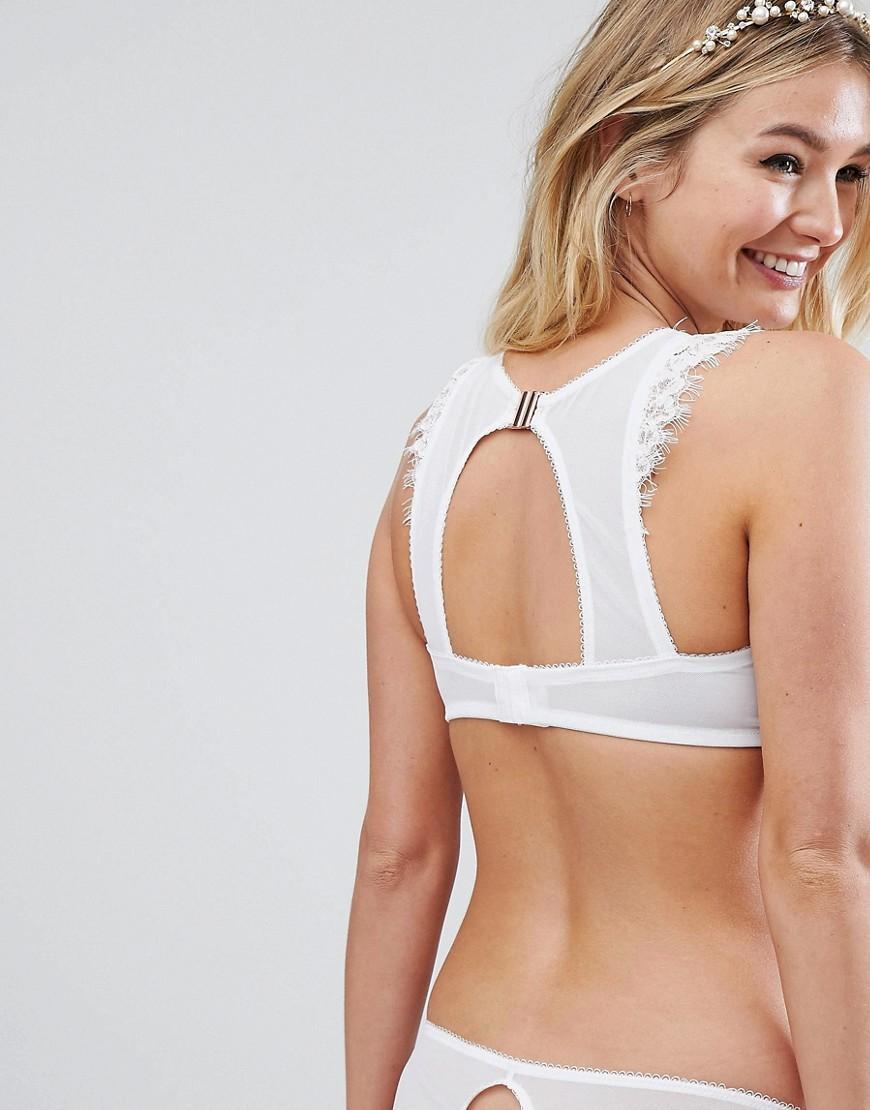 c824115d5b76a6 Lyst - ASOS Asos Design Fuller Bust Bridal Markle Corded Lace Cut Out  Bralette