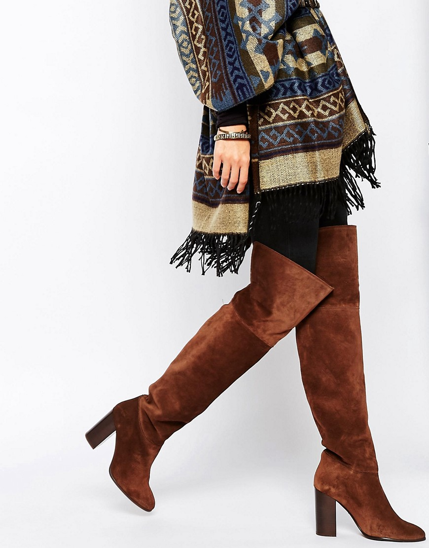 d13aab69f45 Mango Brown Suede Over The Knee Boot