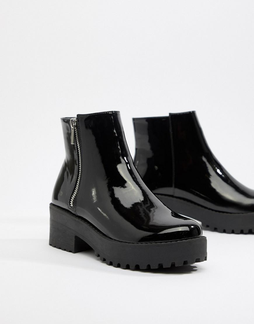 678d682d5ac Park Lane Leather Chunky Ankle Boots in Black - Lyst