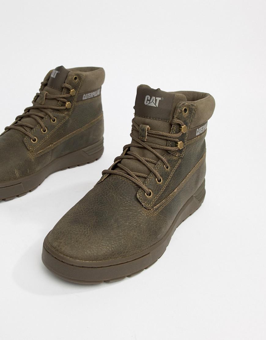 5dd8b49c794 Caterpillar Green Caterpillar Ryker Leather Boots for men