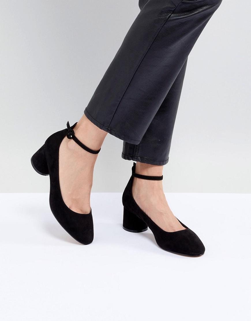 11b73194e69 Lyst - ASOS Skyla Mid Block Heels in Black