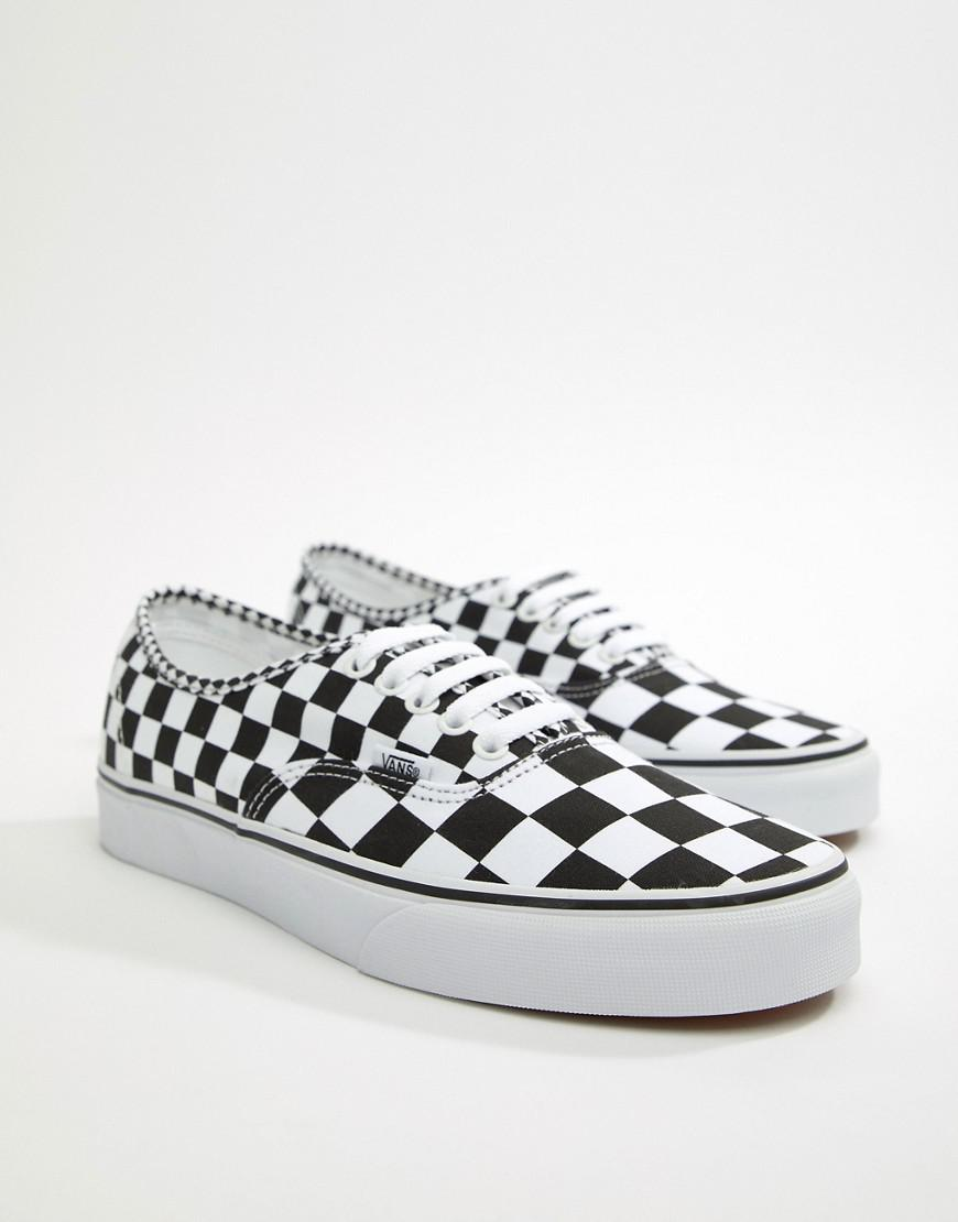 b70cda5b55 Vans Ua Authentic Blur Check in Black for Men - Save 53% - Lyst
