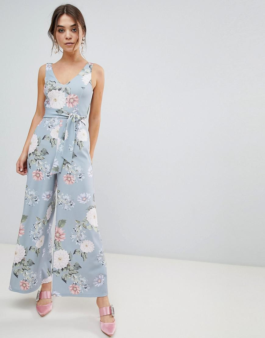 086307aedc New Look Floral Jumpsuit in Blue - Lyst