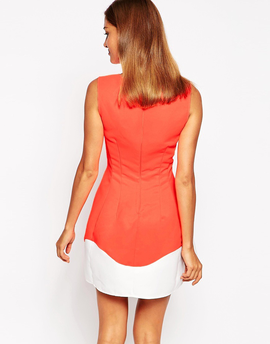 products rose marie skater dress neon coral