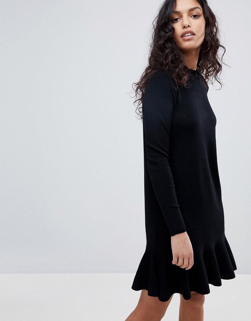 Y.A.S Media Knit Skater Dress in Black - Lyst 1bf8ea272