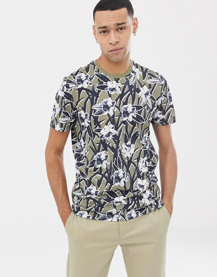 c756ca90c13d Lyst - Ted Baker T-shirt With Floral Print in Green for Men