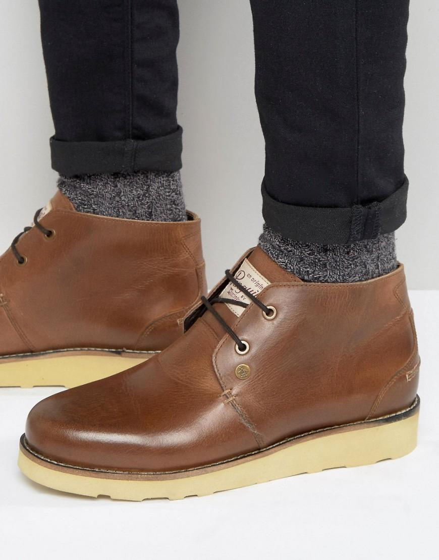 Original Penguin Chukka Boots In Brown Leather For Men Lyst