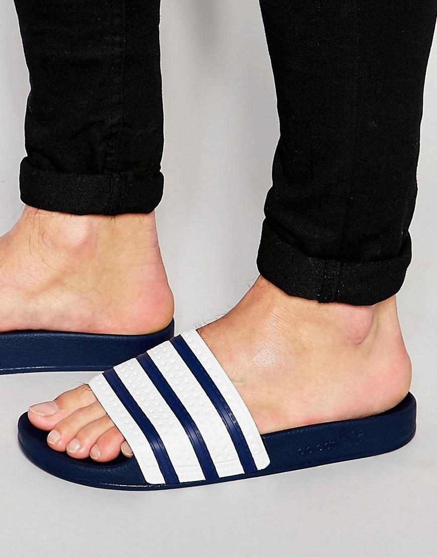 c1b632209 adidas Originals Adilette Slider Flip Flops G16220 in Blue for Men - Save  9% - Lyst