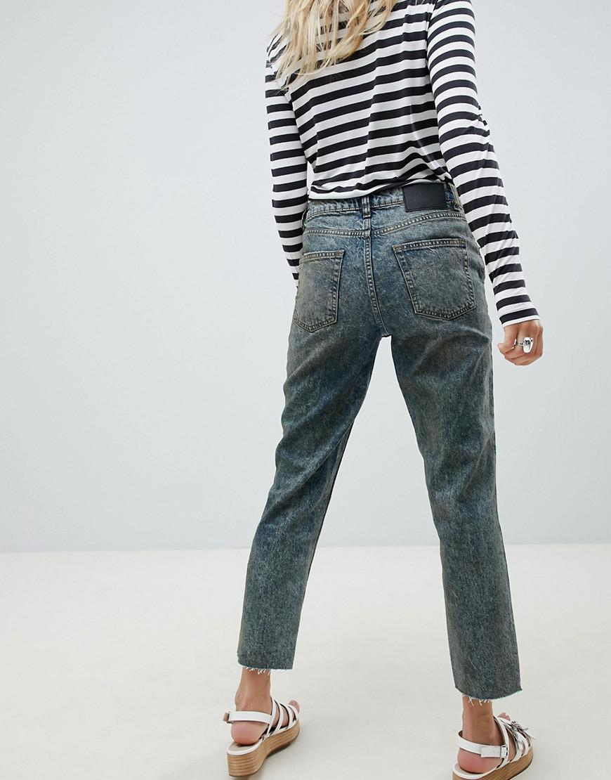 34fa7047dc93ce Lyst - Cheap Monday Revive Cropped Straight Leg Jean in Blue