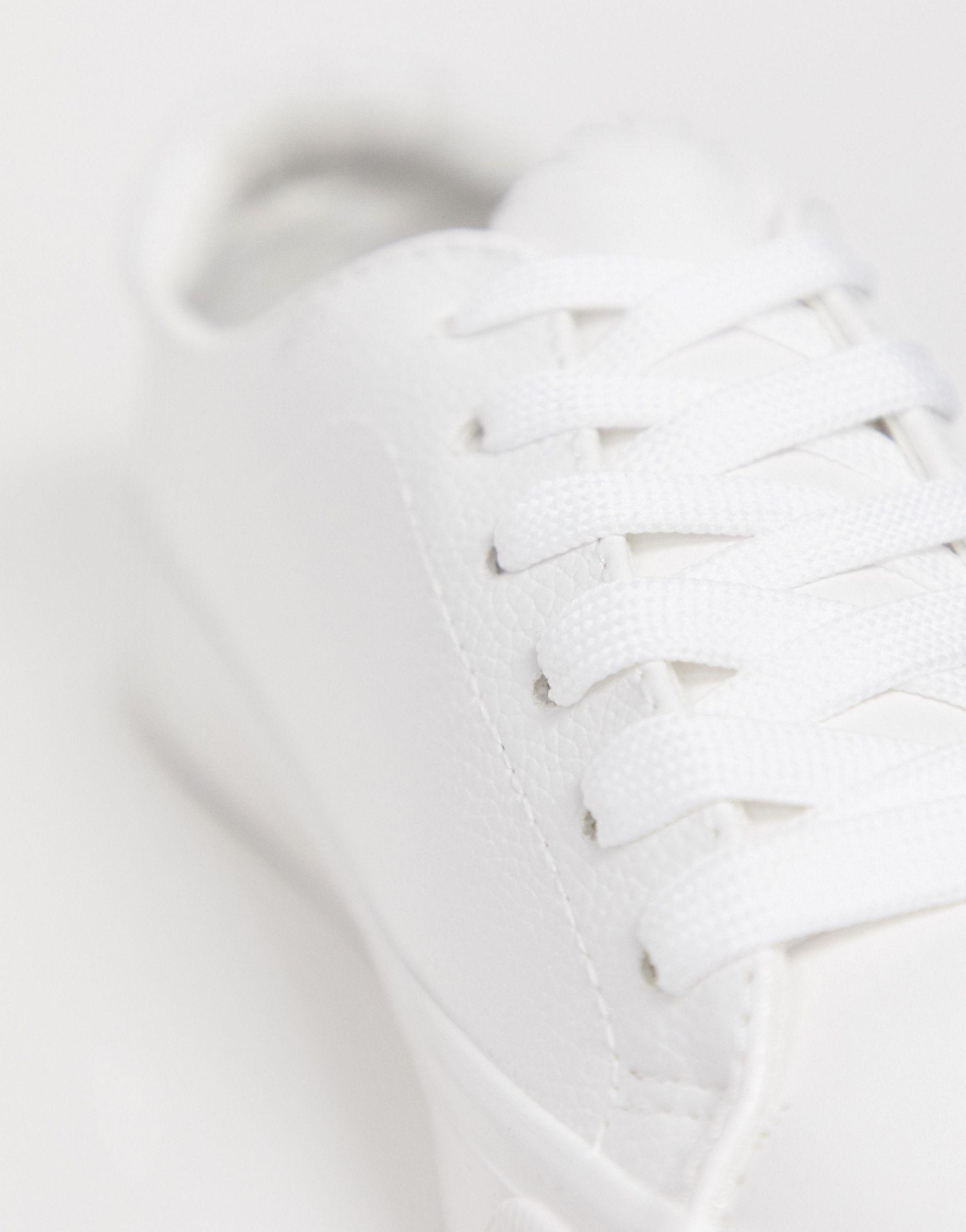 Zapatillas clásicas blancas New Look de Cuero de color Blanco
