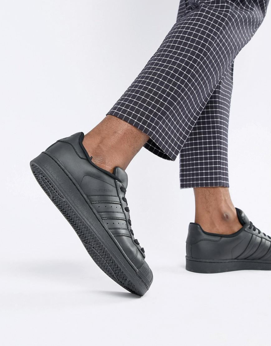 Adidas superstar scarpe originali in nero af5666 in nero per gli uomini.
