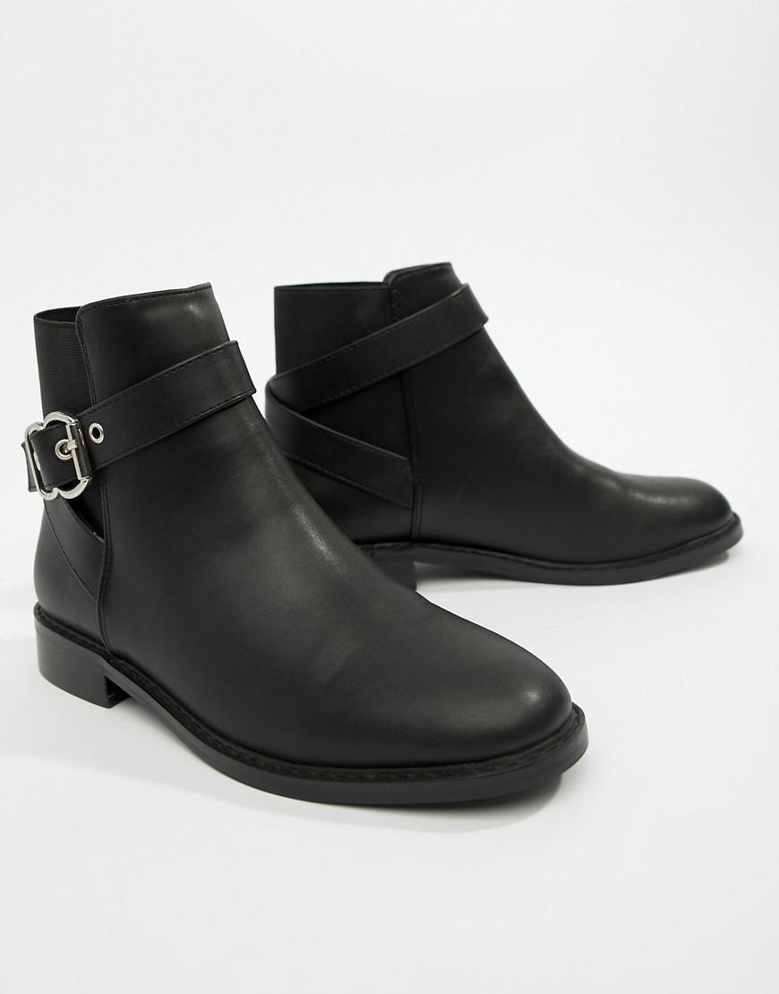 cd8fc8bc574 Women's Black Abena Buckle Ankle Boots
