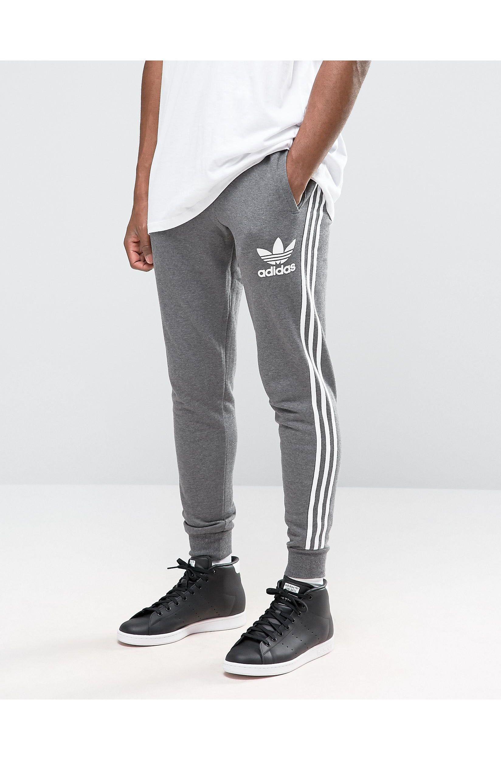 adidas Originals Cotton Trefoil Joggers Ay7782 in Grey ...