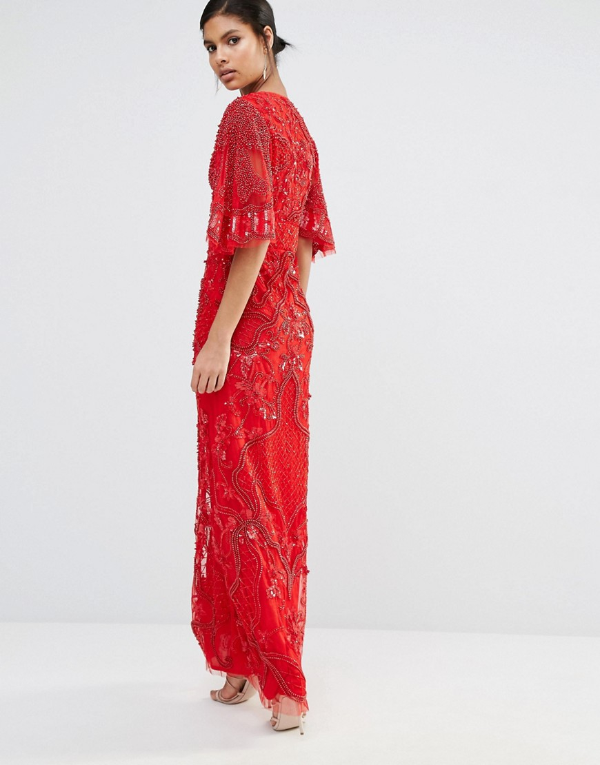 Star is born embellished crepe maxi dress in metallic lyst - Be Inspired