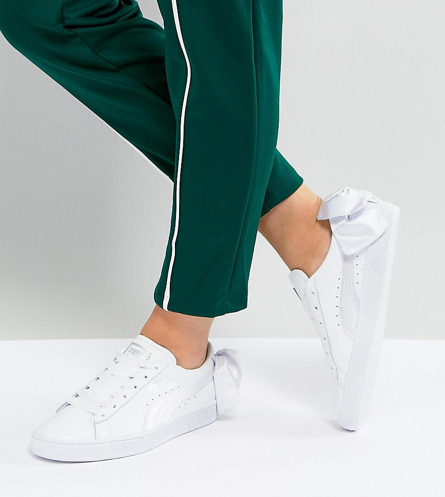 PUMA Suede Bow Trainers in White - Lyst