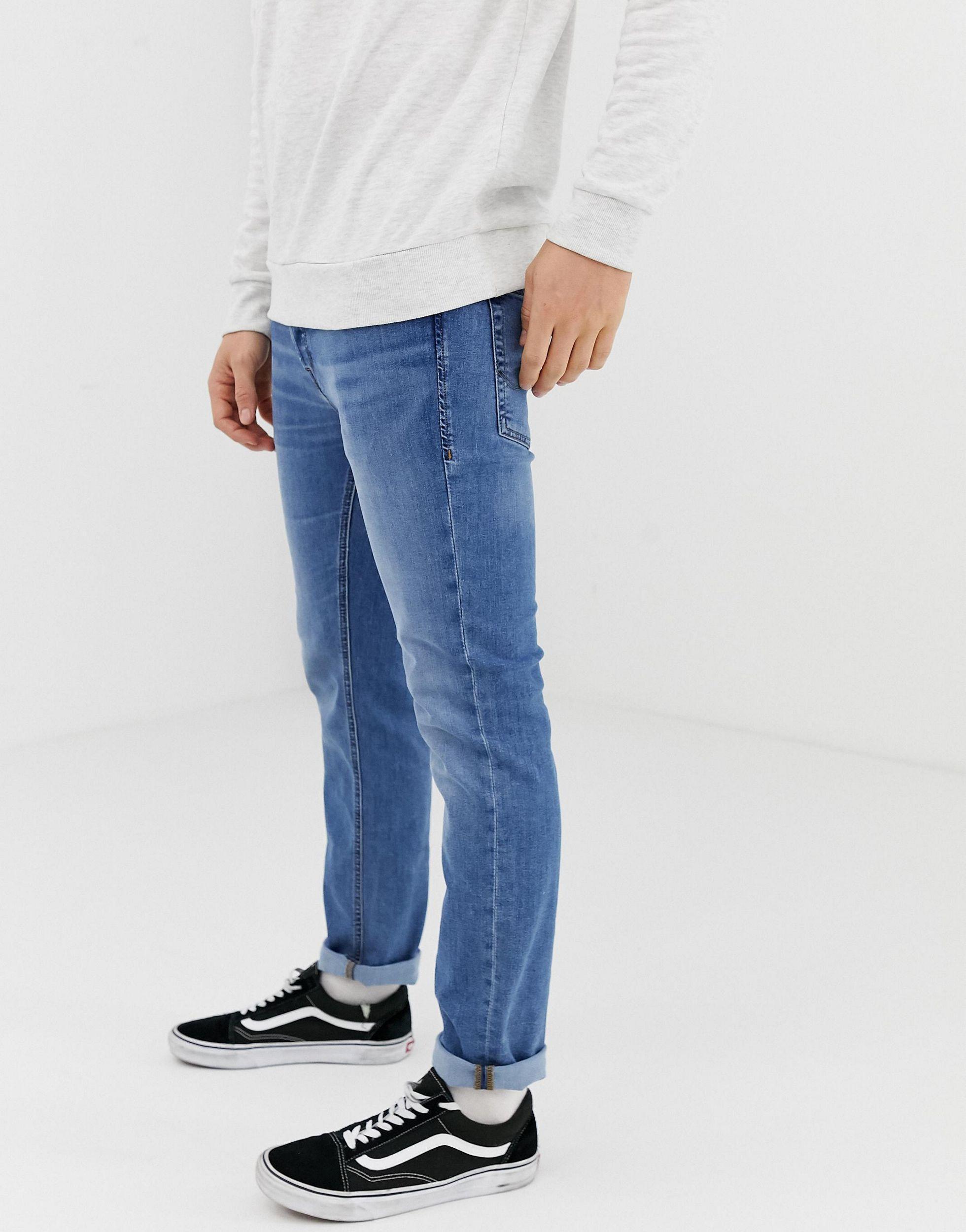 Jack & Jones Denim Slim-fit Jeans in het Blauw voor heren