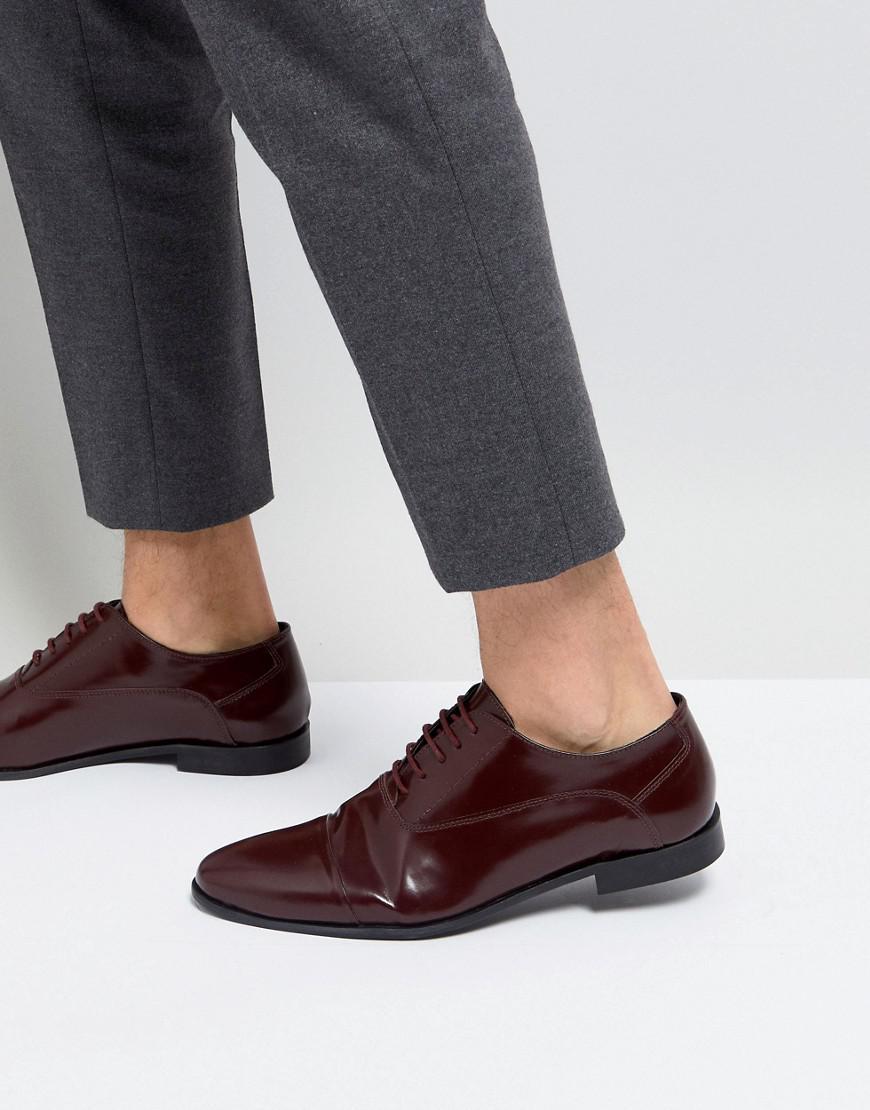 Kg Par Kurt Geiger Rayleigh Salut Chaussures Derby Shine - Rouge 7L02Yt3