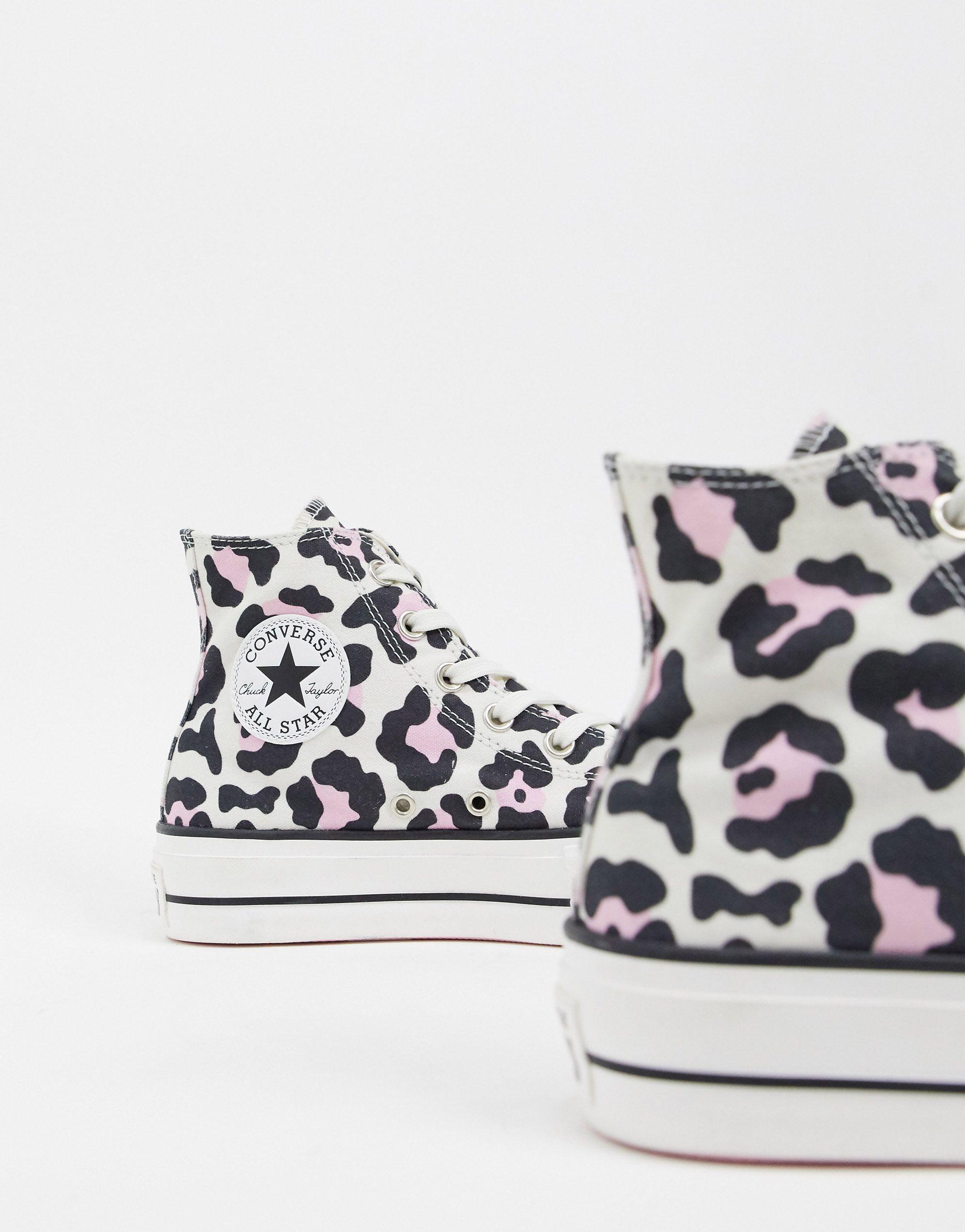 leopard print converse sneakers