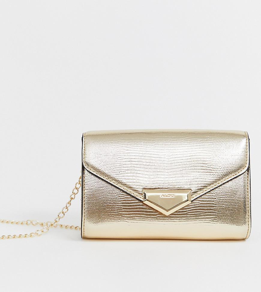 7990e3e3966 ALDO Guriava Clutch Bag With Chain in Metallic - Lyst