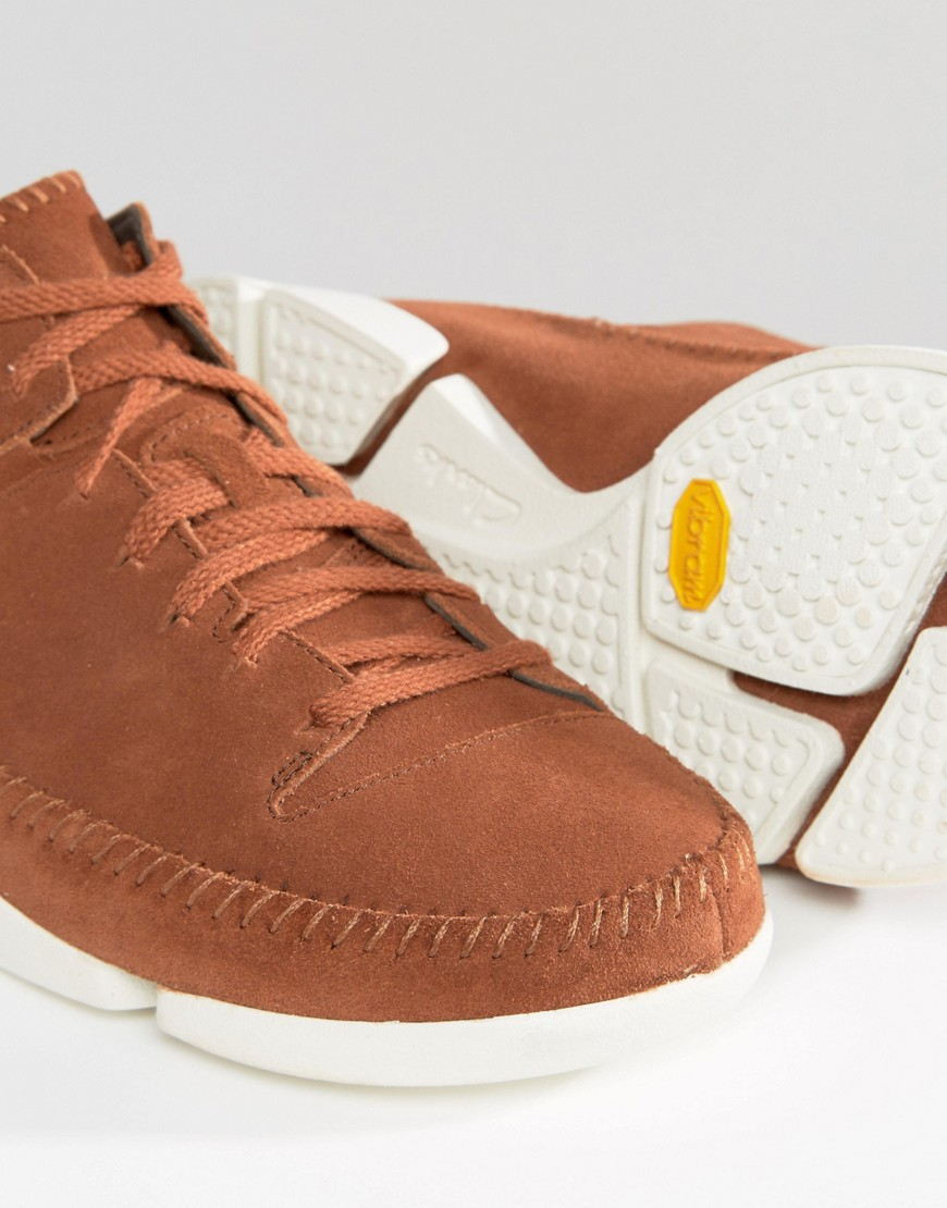 Clarks Trigenic Suede Sneakers in Brown