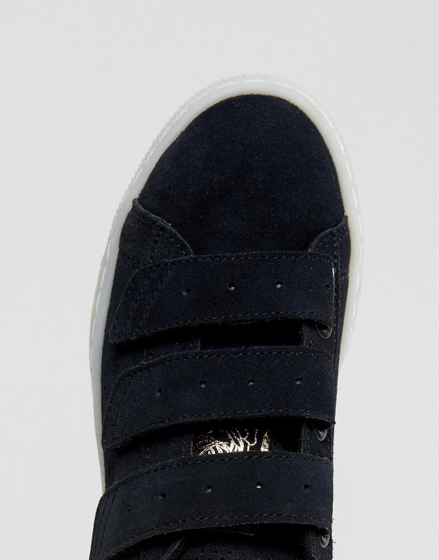 half off 752da 3d518 PUMA X Careaux Basket Strap Sneakers In Black