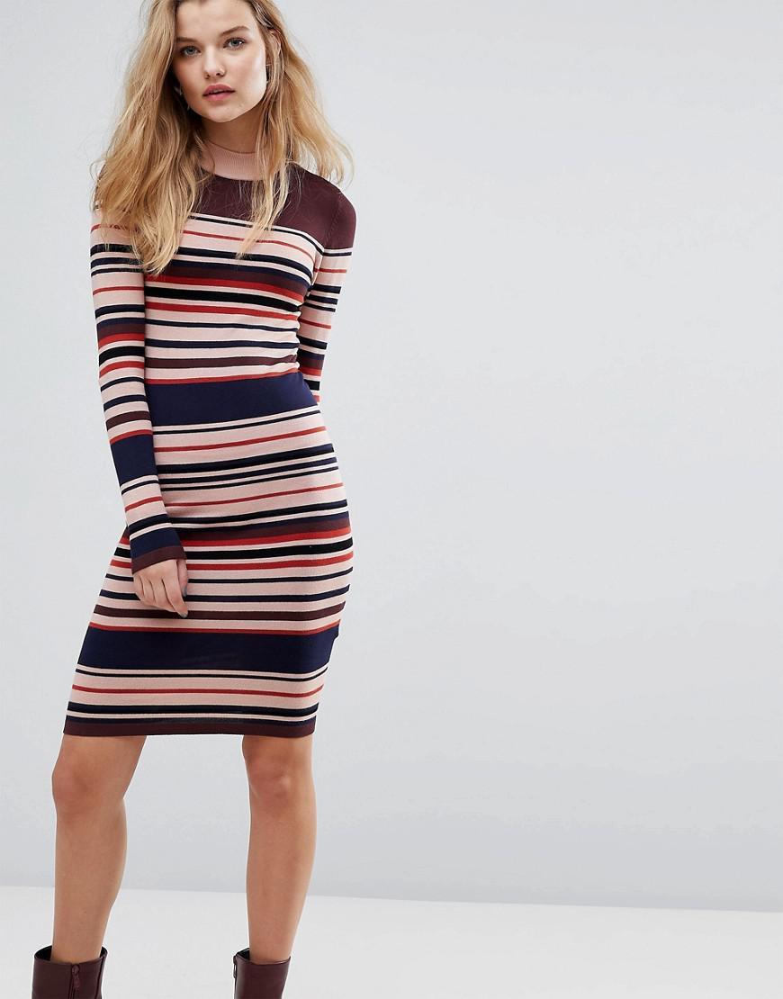 Lyst - Y.A.S Stripe Knitted Dress ebfa2264f
