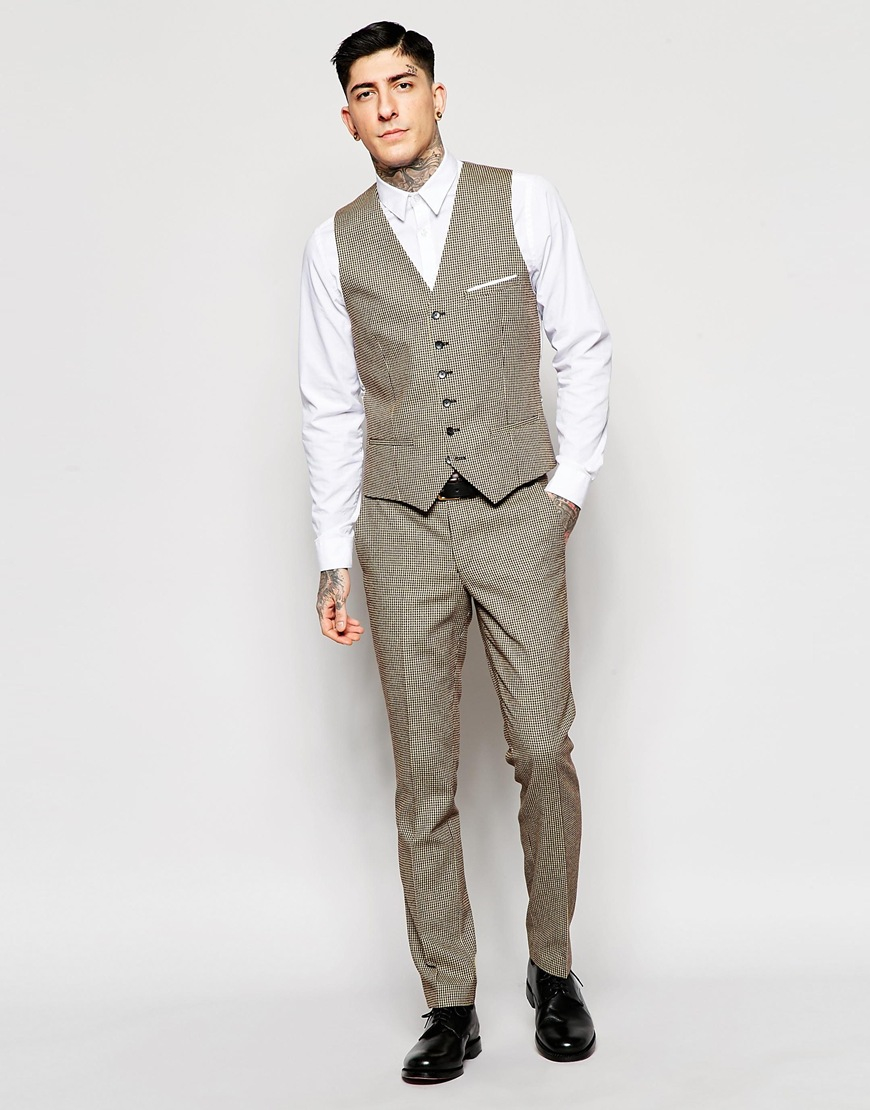 Brown Dogtooth Suit - Hardon Clothes