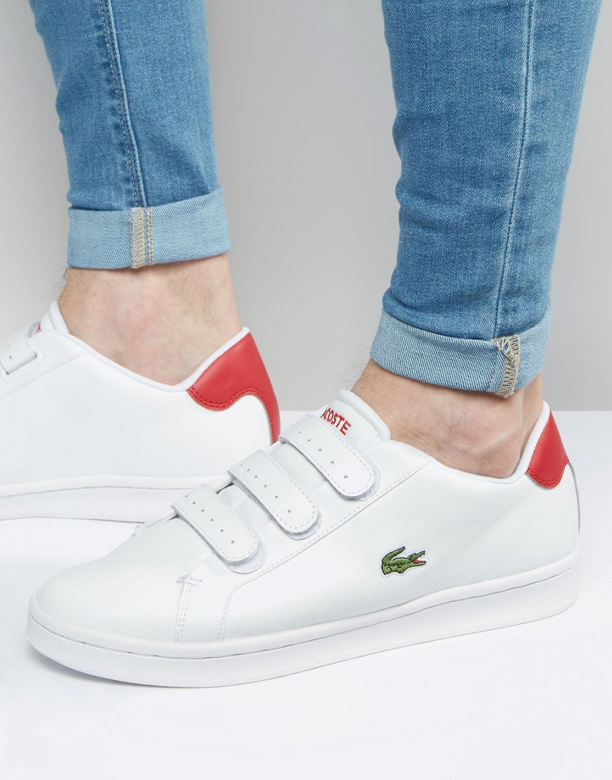 3c8fc94e15f902 Lacoste Camden Velcro Trainers in White for Men - Lyst