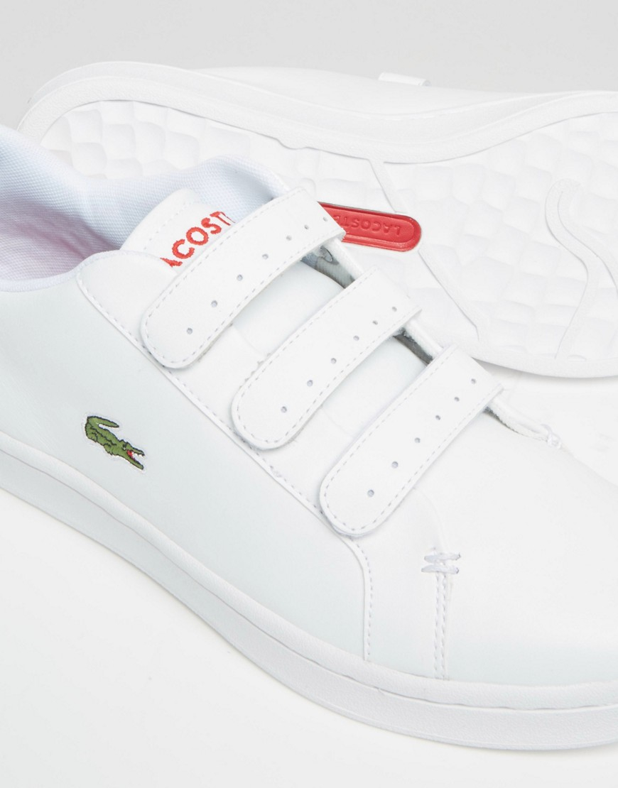 Lacoste Leather Camden Velcro Trainers