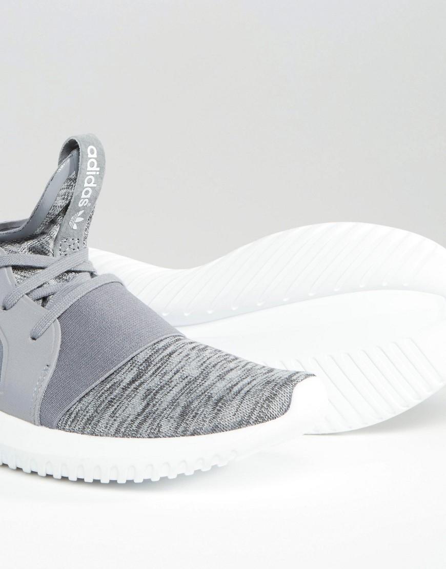 Lyst - adidas Originals Grey Marl Tubular Defiant Sneakers in Gray 908e6877463e
